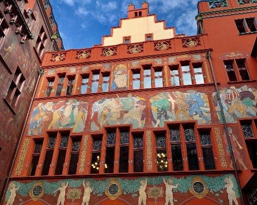Basel Rathaus - Inside Courtyard Facade