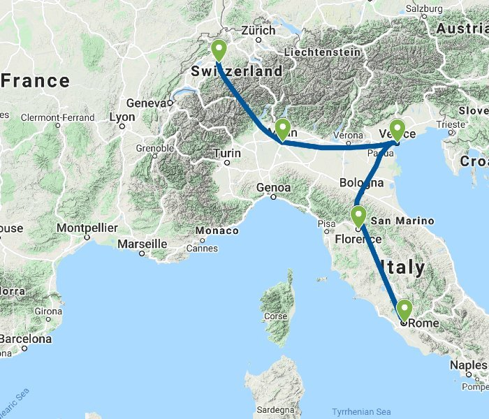 Bernese Oberland and Italy's Majestic Heritage - Itinerary