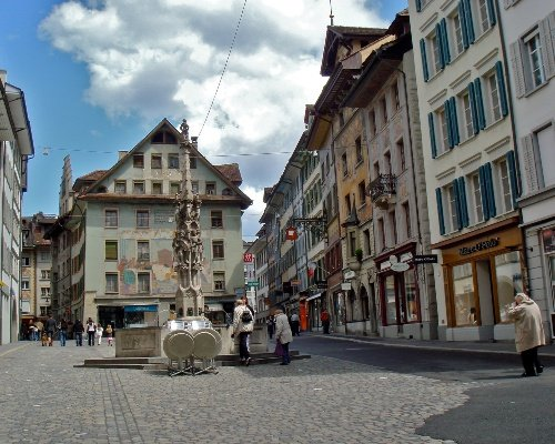 Lucerne Old Town Courtyard